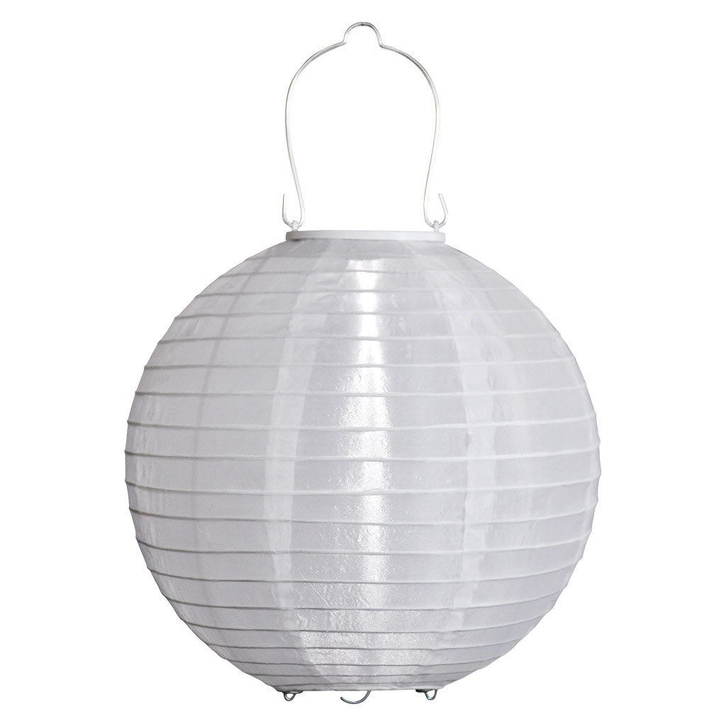 Famous White Outdoor Hanging Lights Pertaining To Three Hanging Solar Outdoor Lanterns In Budget, Midrange And (View 5 of 20)