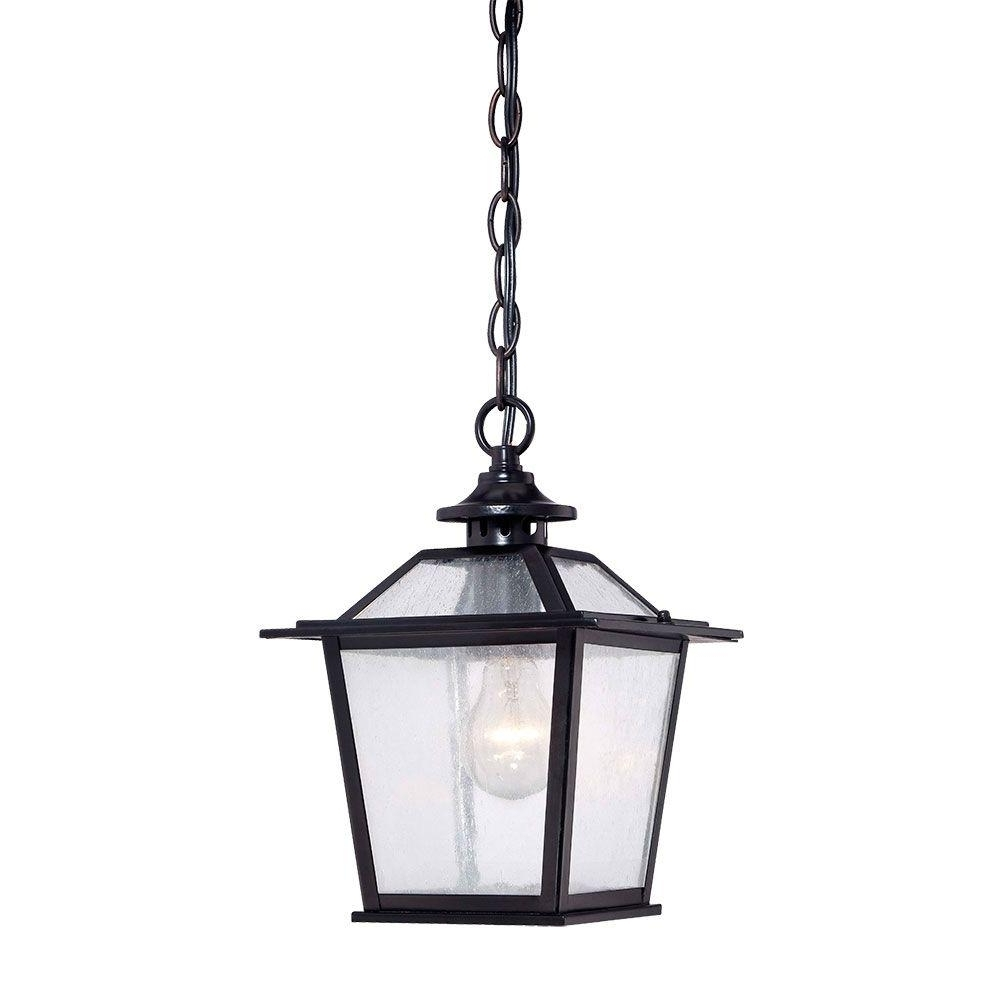 Fashionable Acclaim Lighting Salem Collection 1 Light Matte Black Outdoor Inside Outdoor Hanging Ceiling Lights (View 6 of 20)