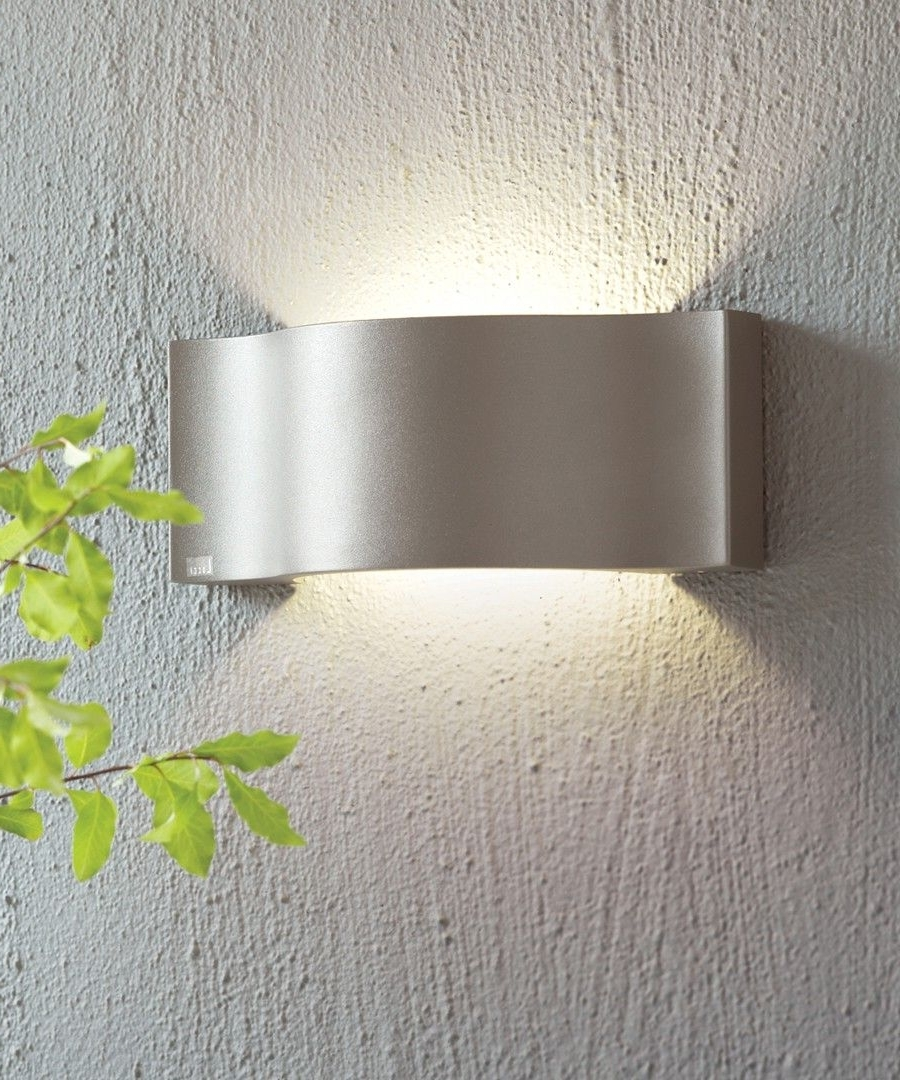 Fashionable Beacon Lighting Outdoor Wall Lights Throughout Ledlux Kast Ip54 Up/down Wall Bracket In Charcoal (View 3 of 20)