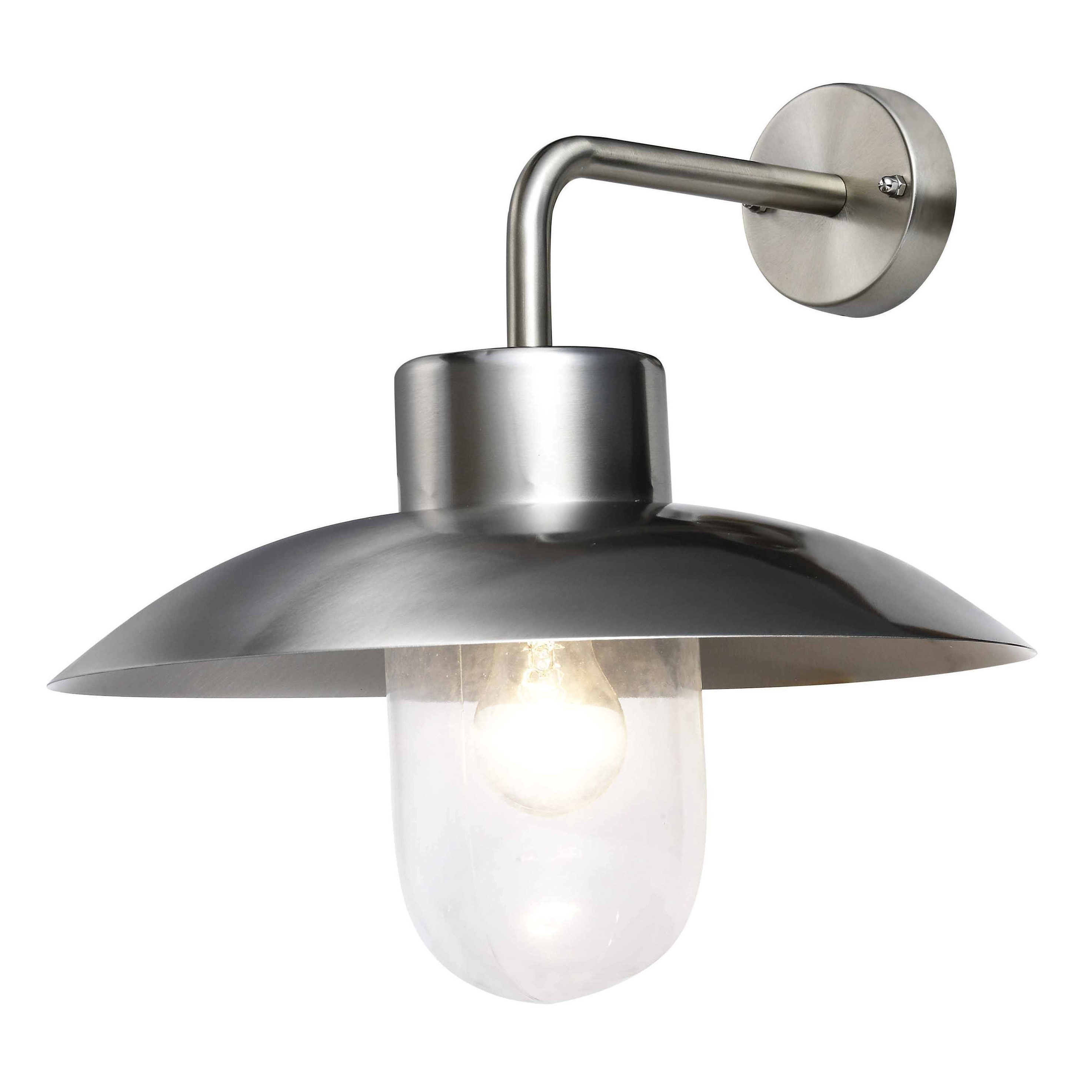 Fashionable Chrome Outdoor Wall Lighting Within Blooma Mara External Wall Light (View 11 of 20)