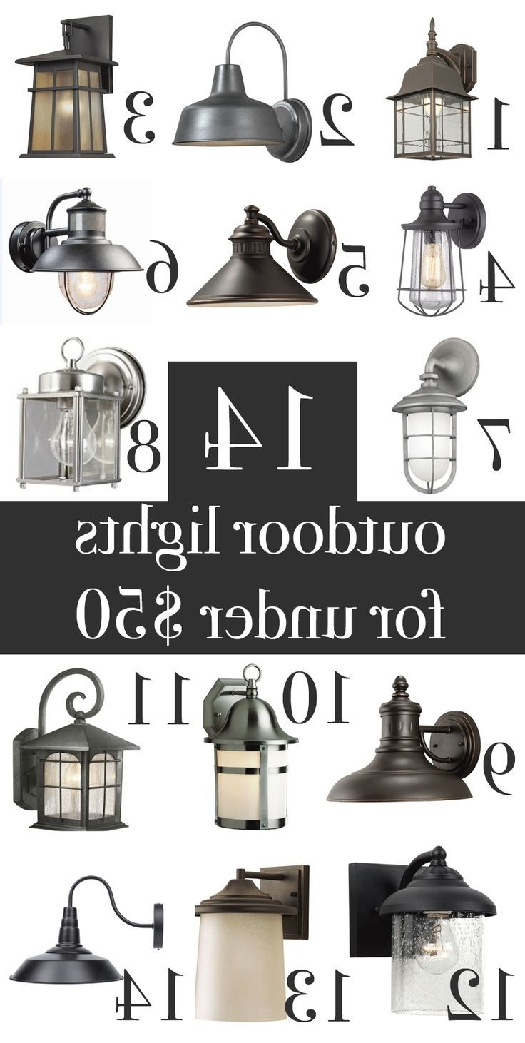 Fashionable Farmhouse Outdoor Wall Lighting Within Farmhouse, Industrial, Craftsman, Rustic Outdoor Wall Lights Under (View 5 of 20)
