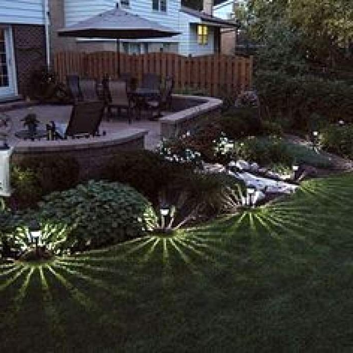 Fashionable Garden Low Voltage Deck Lighting Pertaining To Patio Lighting Ideas Home Depot – Dayri (View 7 of 20)