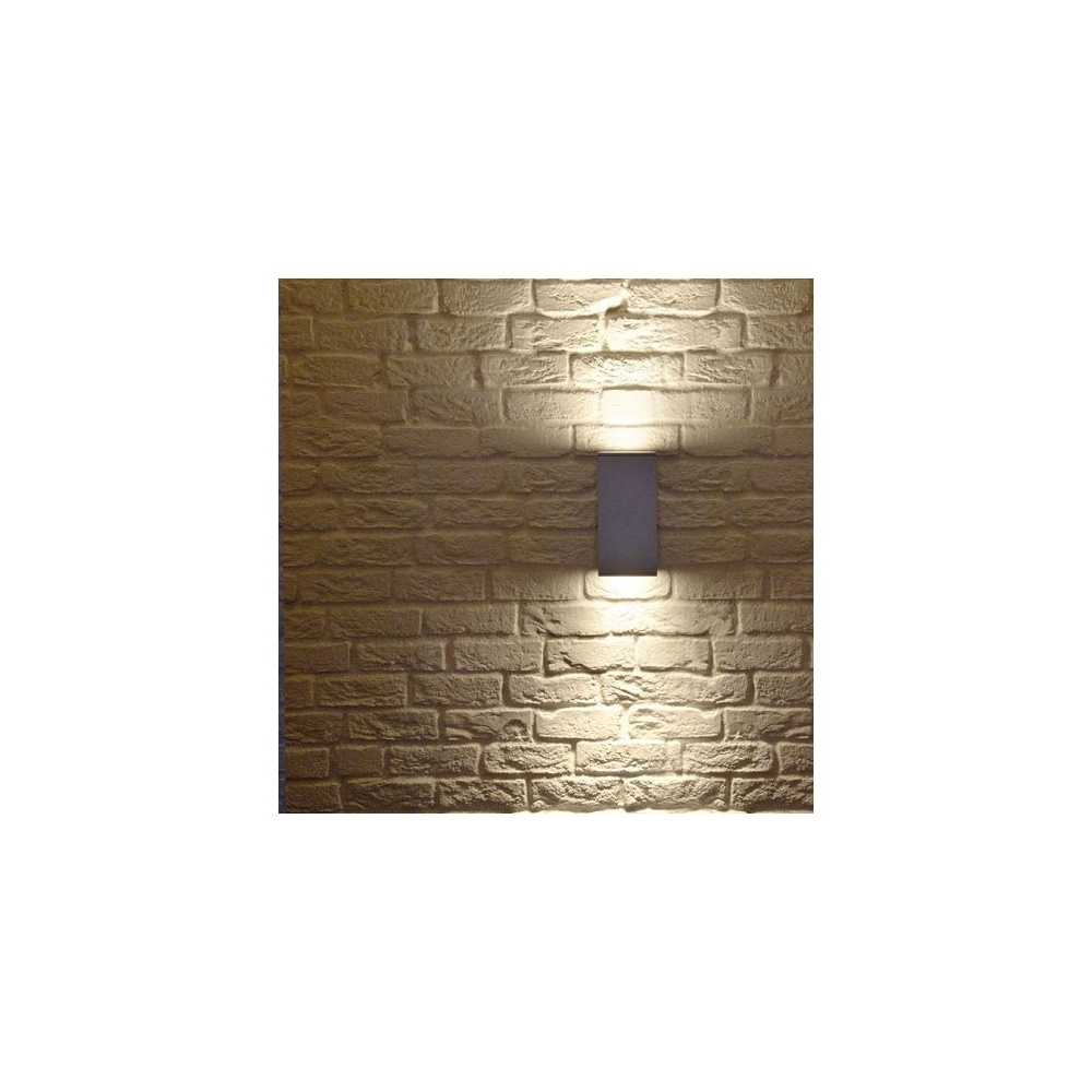 Fashionable Intalite 229571 White Big Theo Up Down Outdoor Wall Light At Intended For Up And Down Outdoor Wall Lighting (View 18 of 20)