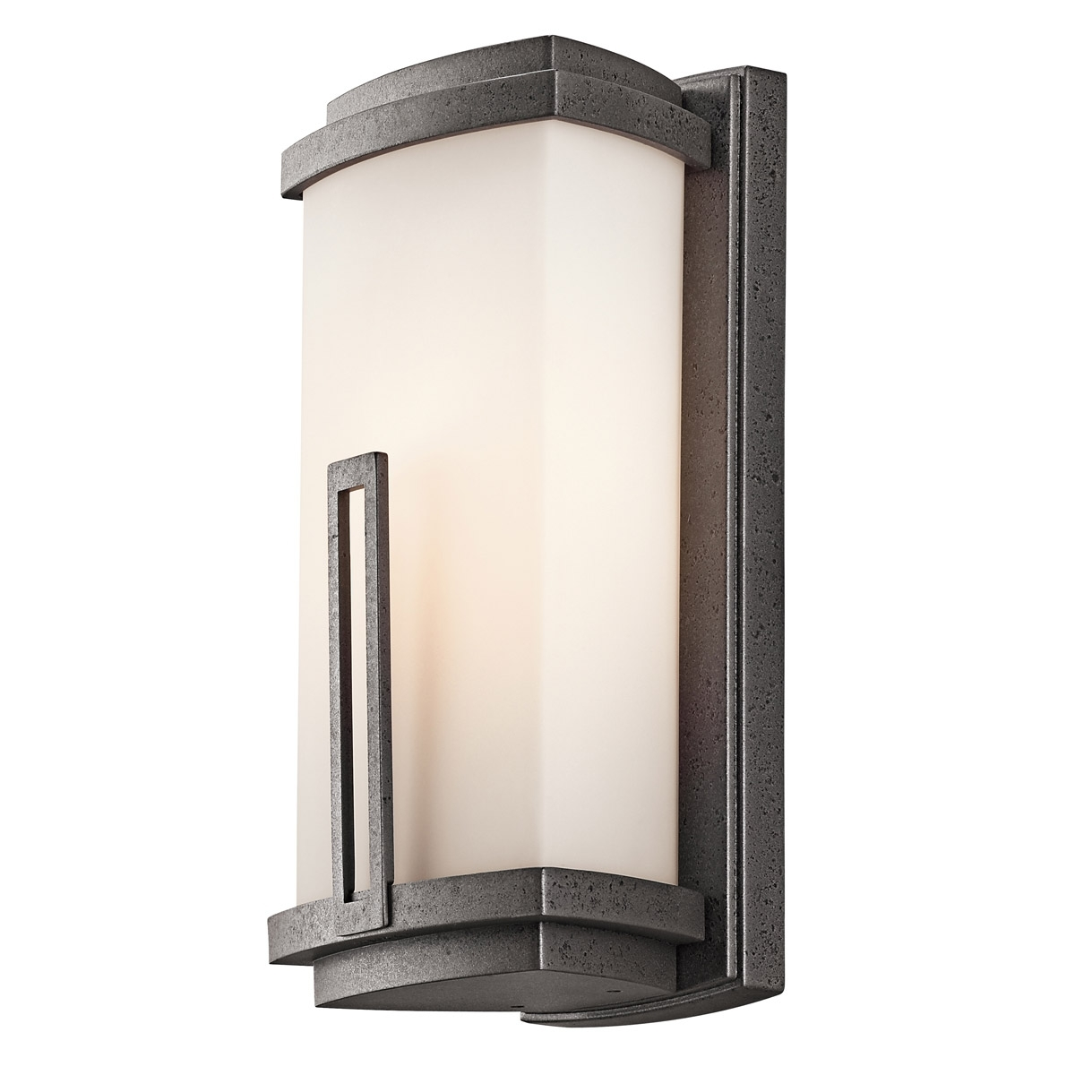 Fashionable Kichler Lighting Outdoor Wall Lanterns Intended For 49110avi Leeds Outdoor Wall Sconce (View 10 of 20)