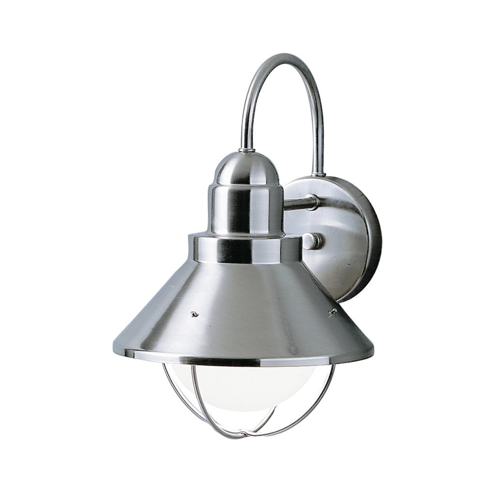 Fashionable Kichler Lighting Seaside Collection 1 Light Brushed Nickel Outdoor For Let Outdoor Kichler Lighting (View 14 of 20)