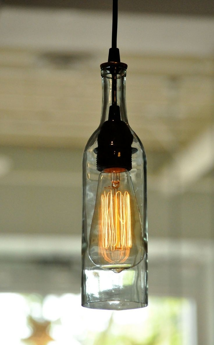 Fashionable Light: Hanging Wine Bottle Lights With Outdoor Hanging Bottle Lights (View 5 of 20)
