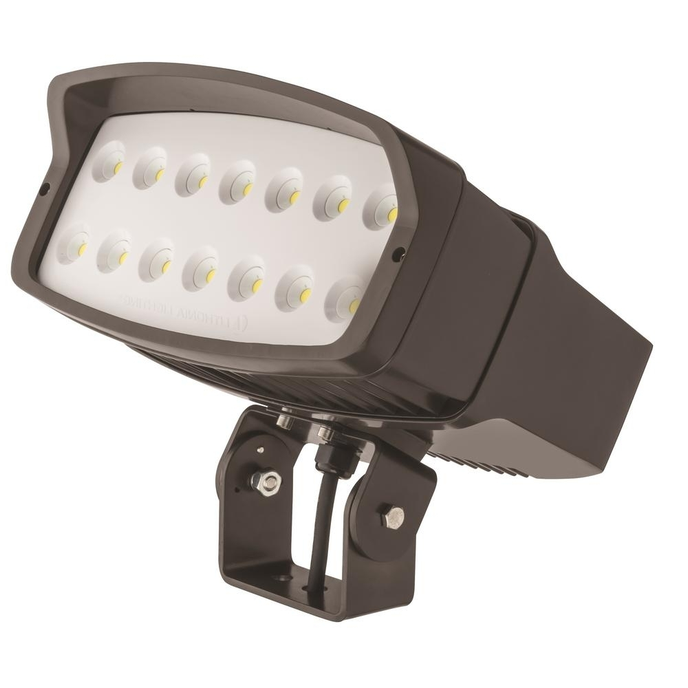 Fashionable Lithonia Lighting Ofl2 Led Bronze Outdoor Flood Light Ofl2 Led P3 With Regard To Lithonia Lighting Wall Mount Outdoor Bronze Led Floodlight With Motion Sensor (View 14 of 20)