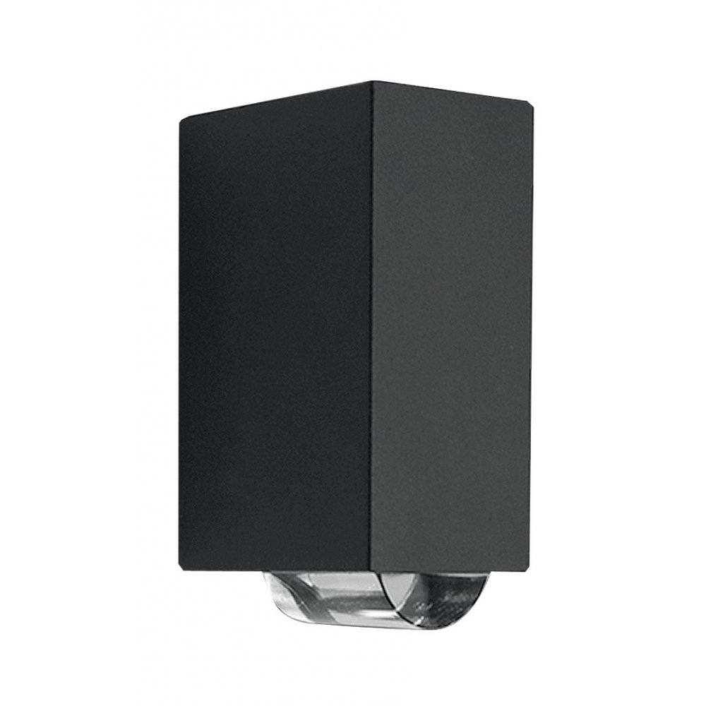 Fashionable Northern Ireland Outdoor Wall Lights Regarding Lutec Evans 1862 Led Outdoor Wall Light In Graphite (View 6 of 20)