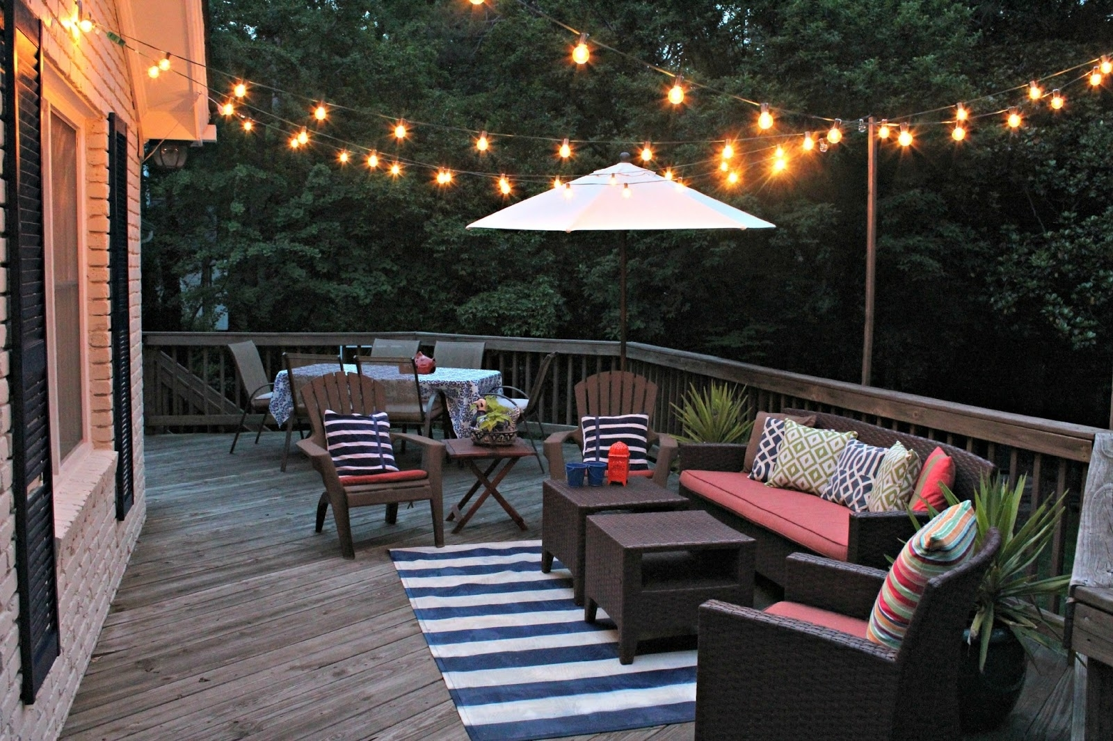 Fashionable Outdoor Hanging Deck Lights Pertaining To Outdoor Deck String Lighting Collection Including Ideas Led Lights (View 12 of 20)