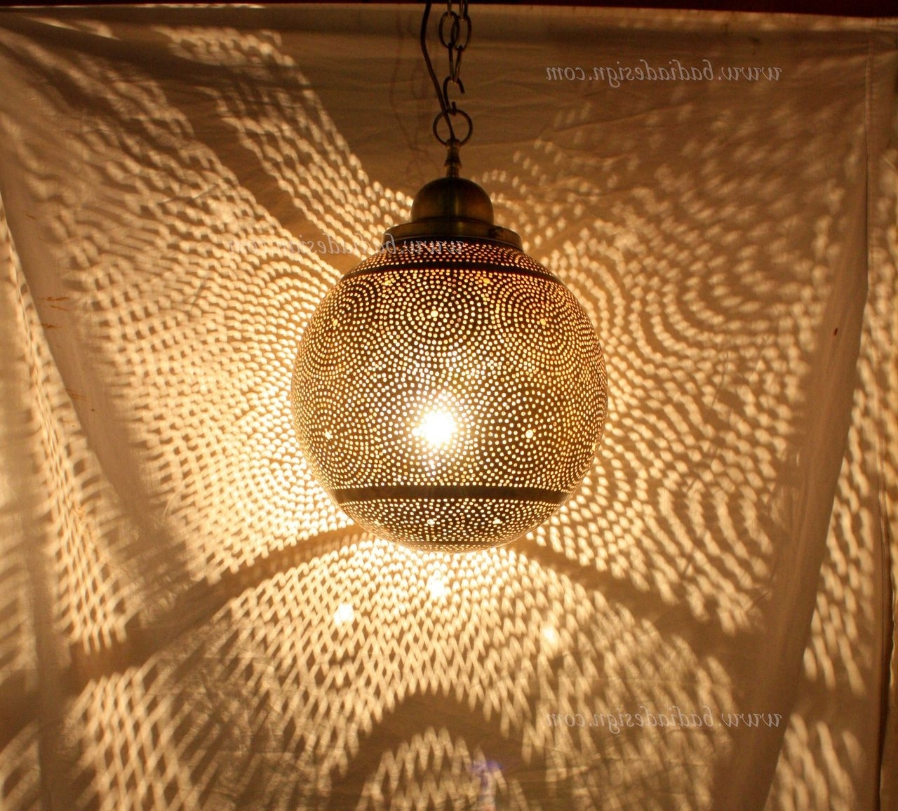 Fashionable Outdoor Hanging Moroccan Lanterns Regarding Astonishing Moroccan Hanging Brass Lantern Ll Image For Outdoor (View 4 of 20)