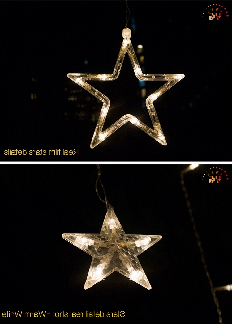 Fashionable Outdoor Hanging Star Lights Inside 33+ Perfect Hanging Star Christmas (View 13 of 20)