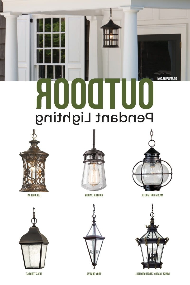 Fashionable Outdoor Pendant Lighting, Commonly Called A Hanging Porch Lantern Within Hanging Outdoor Lights On House (View 17 of 20)