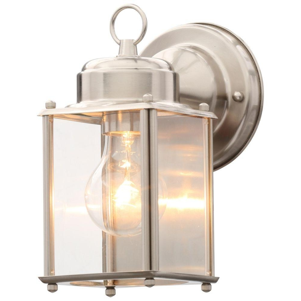 Fashionable Progress Lighting Brushed Nickel Outdoor Wall Lantern P5607 09 – The Intended For Outdoor Wall Lantern Lighting (View 20 of 20)
