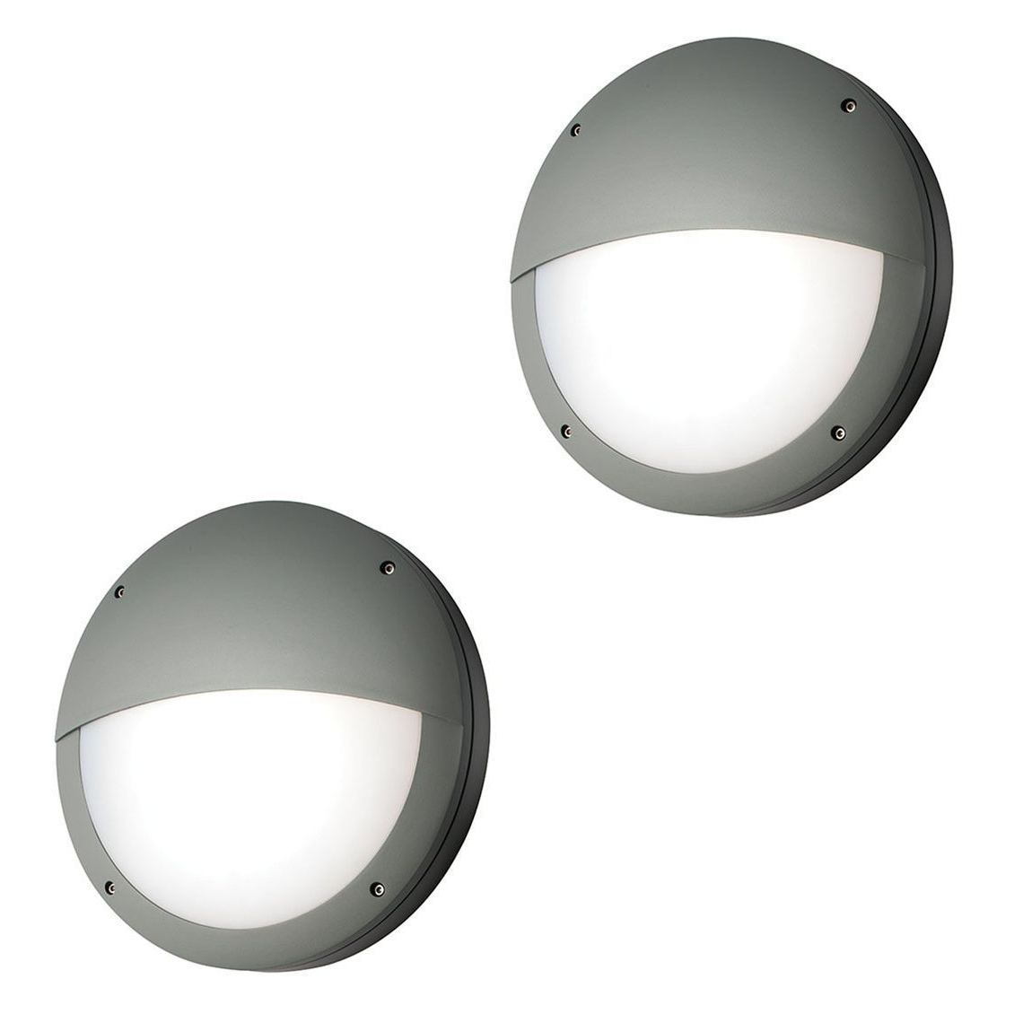 Fashionable Round Outdoor Wall Light – Outdoor Designs Pertaining To White Led Outdoor Wall Lights (View 6 of 20)