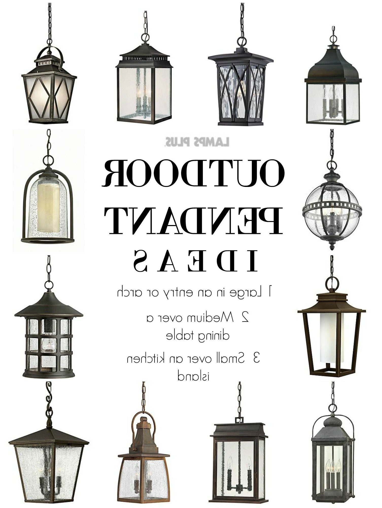 Fashionable Small Outdoor Ceiling Lights In Outdoor Lighting – Outdoor Pendant Ideas From @lampsplus (Gallery 11 of 20)