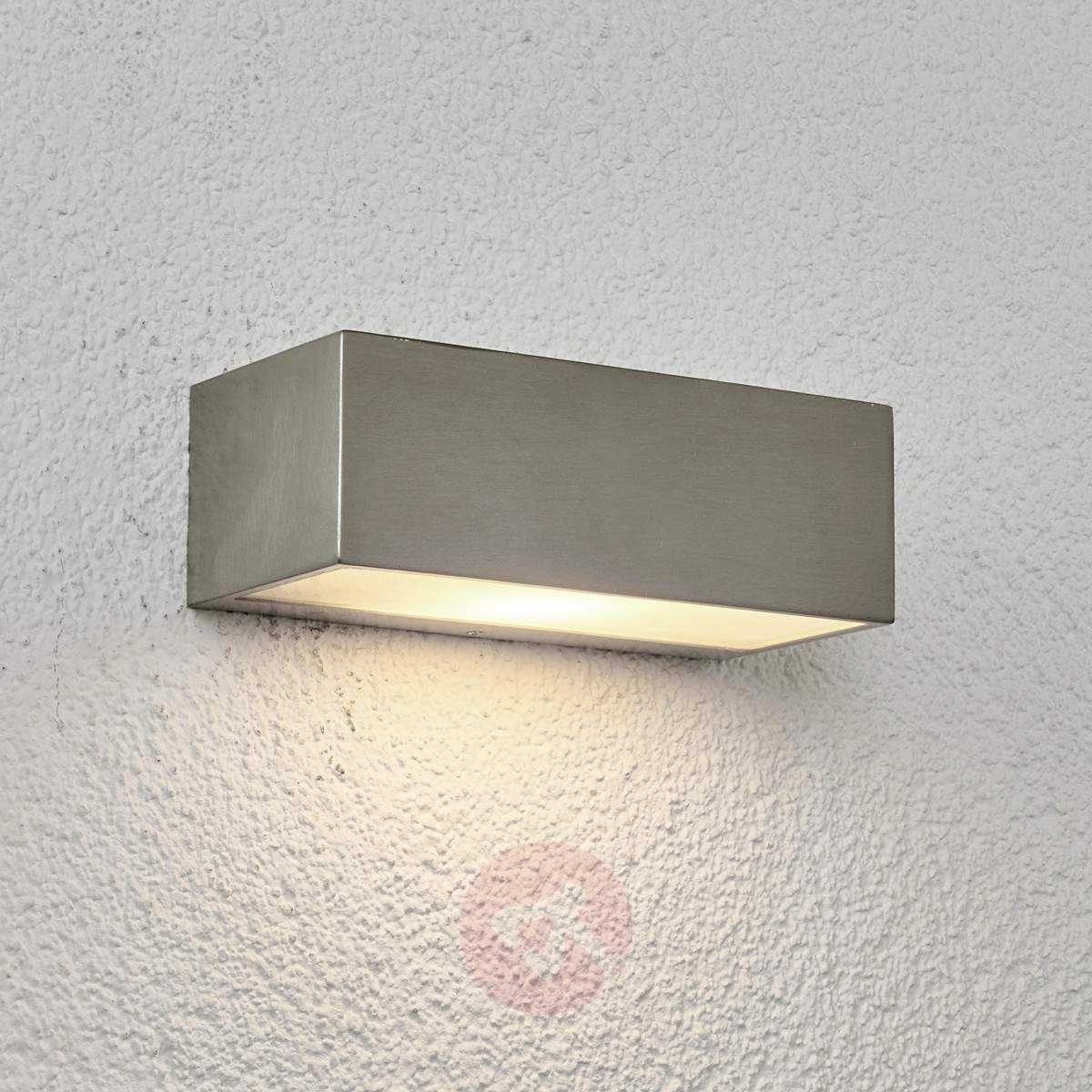 Fashionable Stainless Steel Outdoor Wall Light Leonora (View 9 of 20)