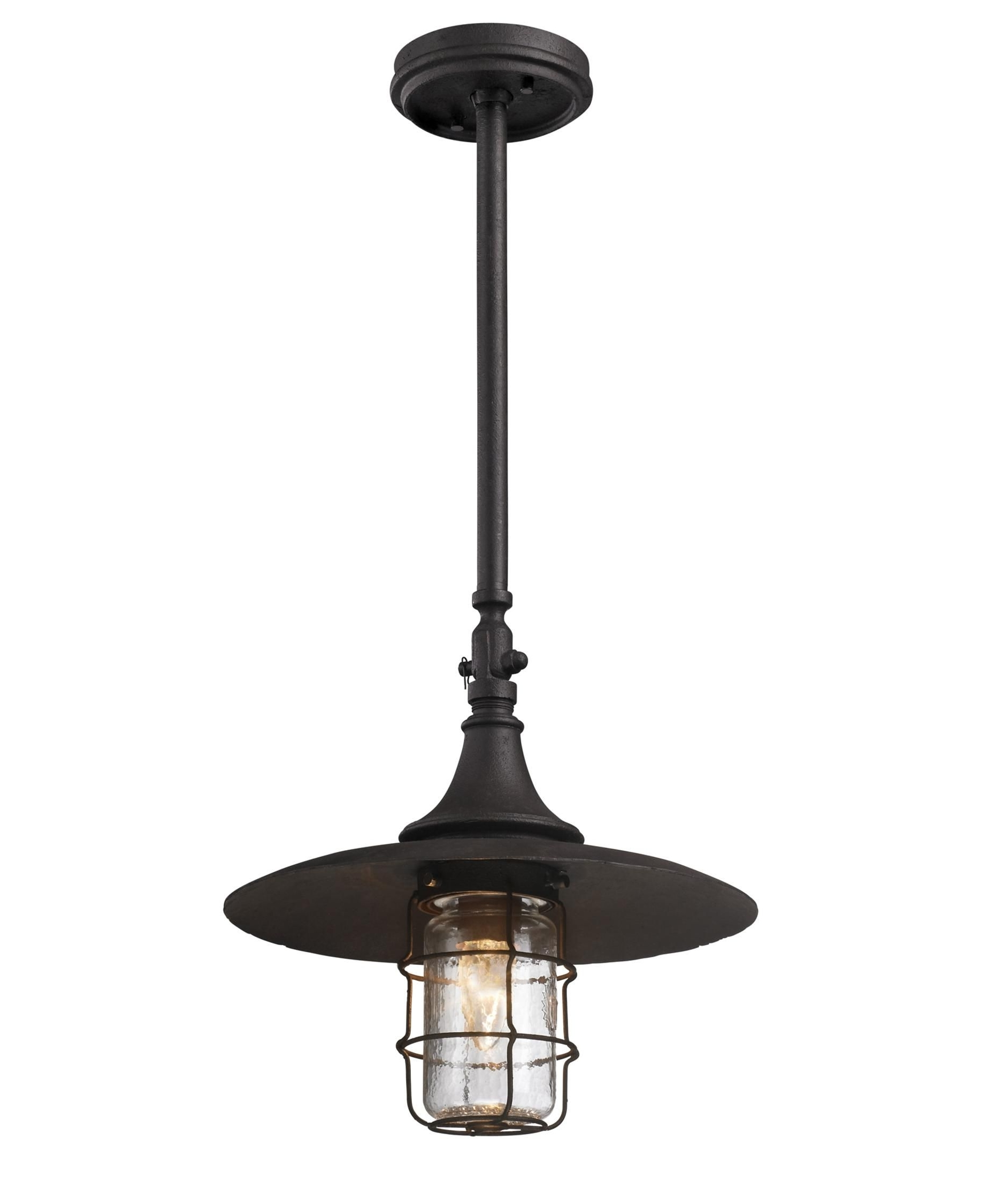 Fashionable Troy Outdoor Hanging Lights Throughout Troy Lighting F3228 Allegany Dark Sky 1 Light Outdoor Hanging (View 2 of 20)