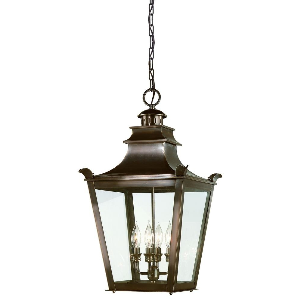 Fashionable Troy Outdoor Hanging Lights With Troy Lighting Dorchester 4 Light English Bronze Outdoor Pendant (View 3 of 20)