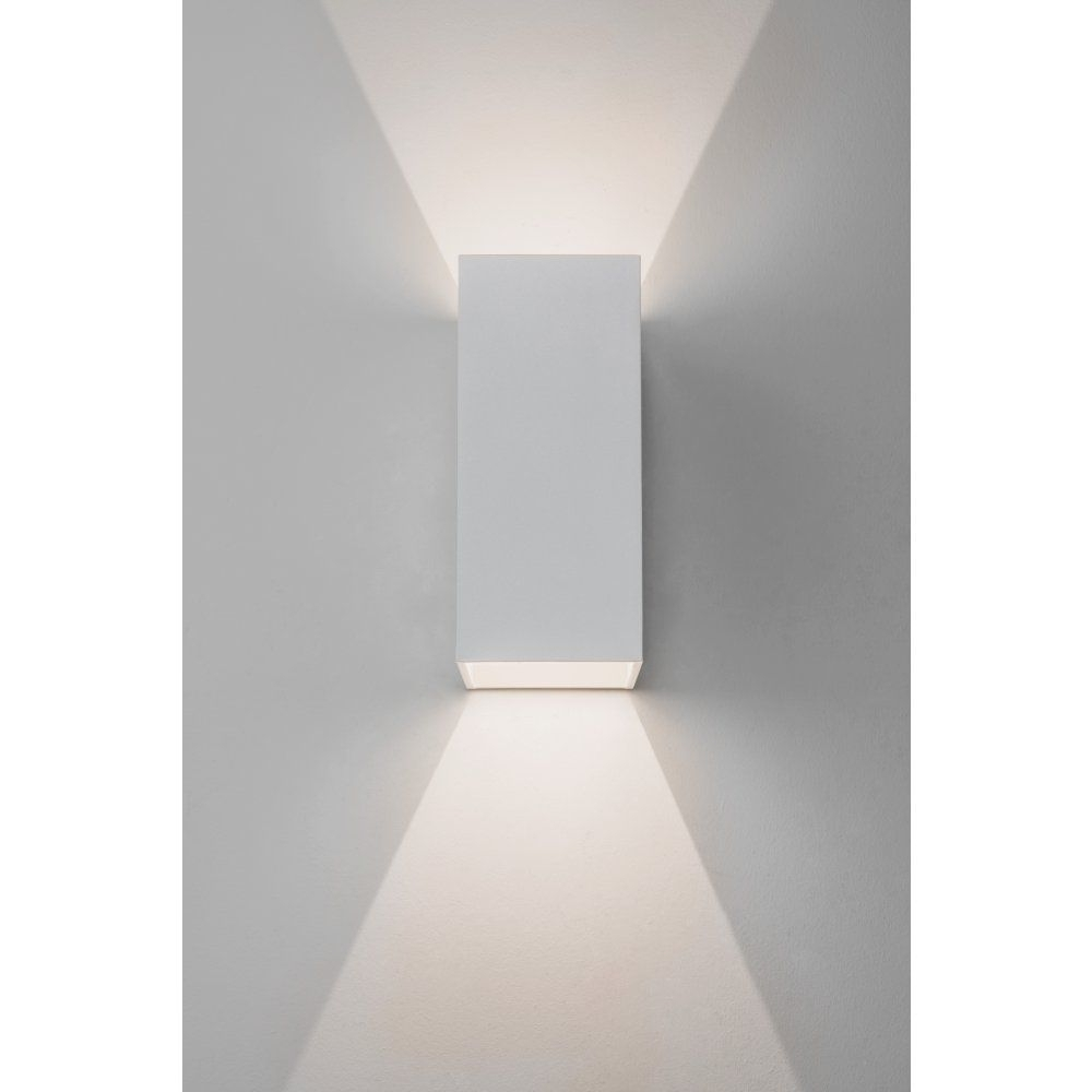 Fashionable White Led Outdoor Wall Lights With 157, Astro Lighting Oslo 160 Led 2 Light Outdoor Wall Fitting In (View 8 of 20)