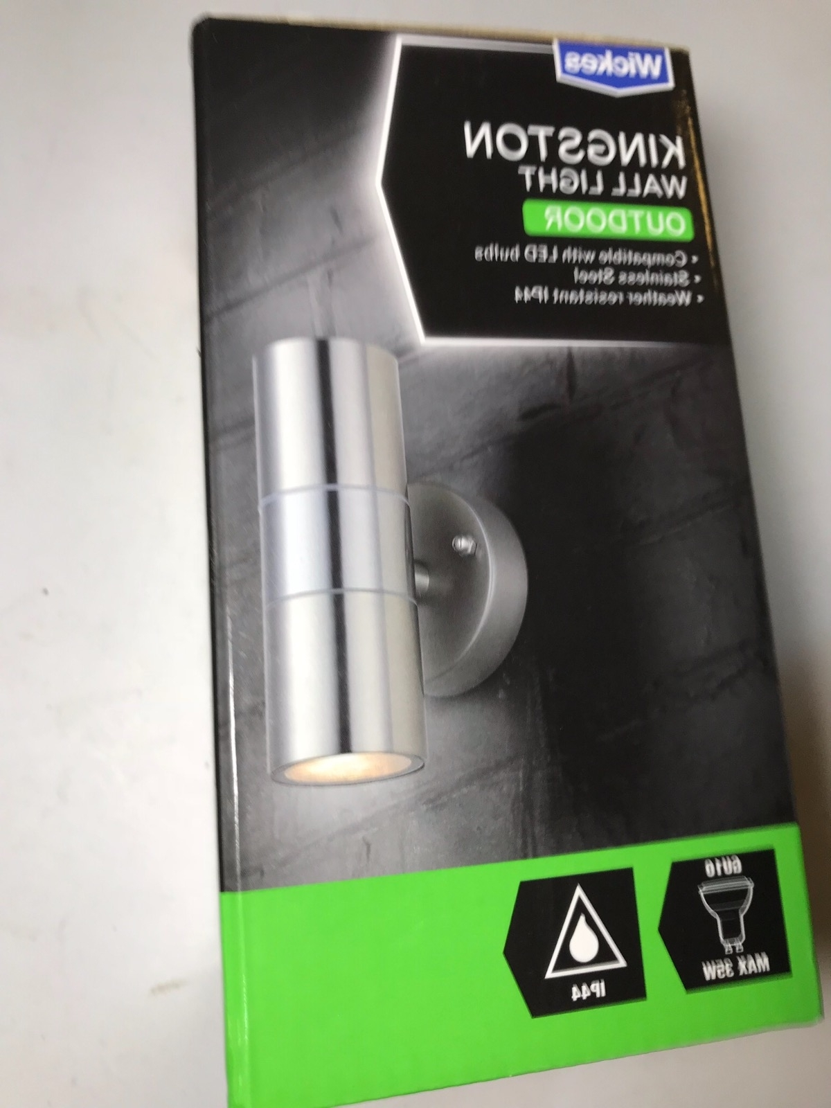 Fashionable Wickes Kingston Steel Up & Down Wall Light – 35W 164Mm Outdoor With Outdoor Wall Lights At Wickes (View 5 of 20)
