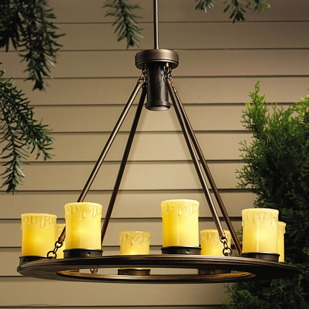 Favorite 15402oz Oak Trail 12v Outdoor Chandelier With Regard To Kichler Outdoor Hanging Lights (View 8 of 20)