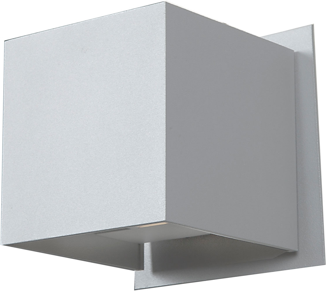 Favorite Access 20398Led Wh Square Contemporary White & White Metal Led Inside Outdoor Wall Lights In White (View 6 of 20)