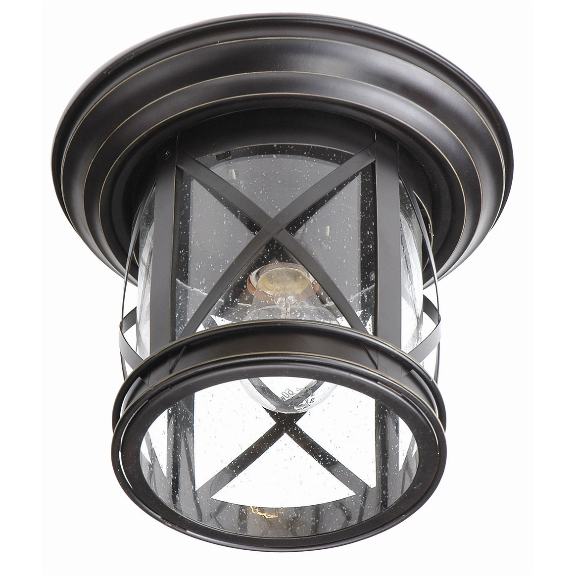 Favorite Coastal Outdoor Ceiling Lights In England Coastal Outdoor Flush Mounttrans Globe (View 8 of 20)