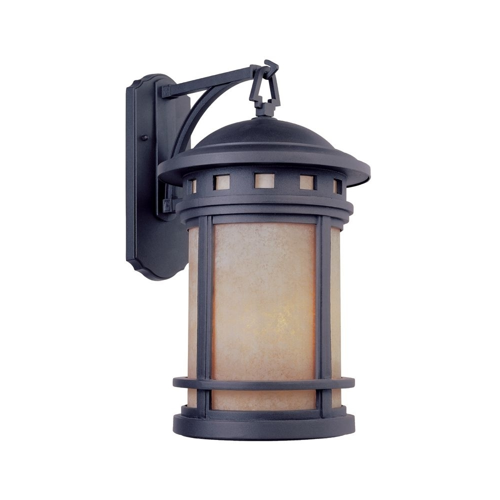 Favorite Craftsman Outdoor Wall Lighting Intended For Bronze Outdoor Wall Lantern With Amber Glass (View 12 of 20)