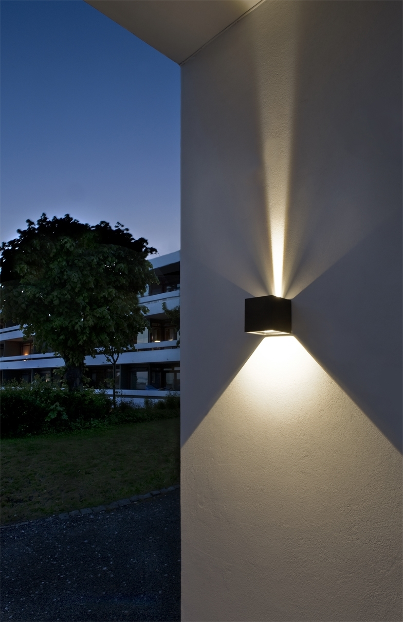 Favorite Cube Led Outdoor Wall Lamp From Light Point As Design: Ronni Gol Www With Regard To Outdoor Wall Lighting At Ebay (View 5 of 20)