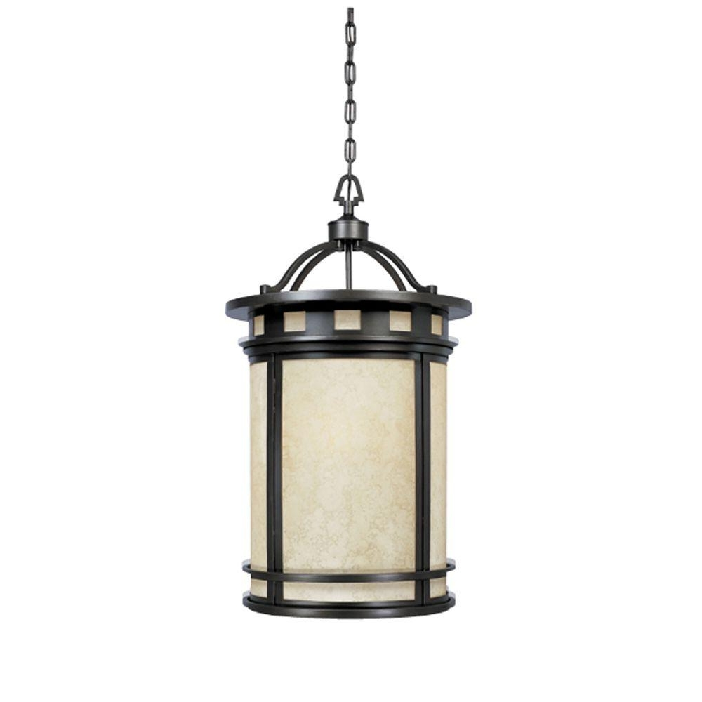 Favorite Designers Fountain Mesa Collection 3 Light Oil Rubbed Bronze Outdoor With Outdoor Hanging Entry Lights (View 6 of 20)