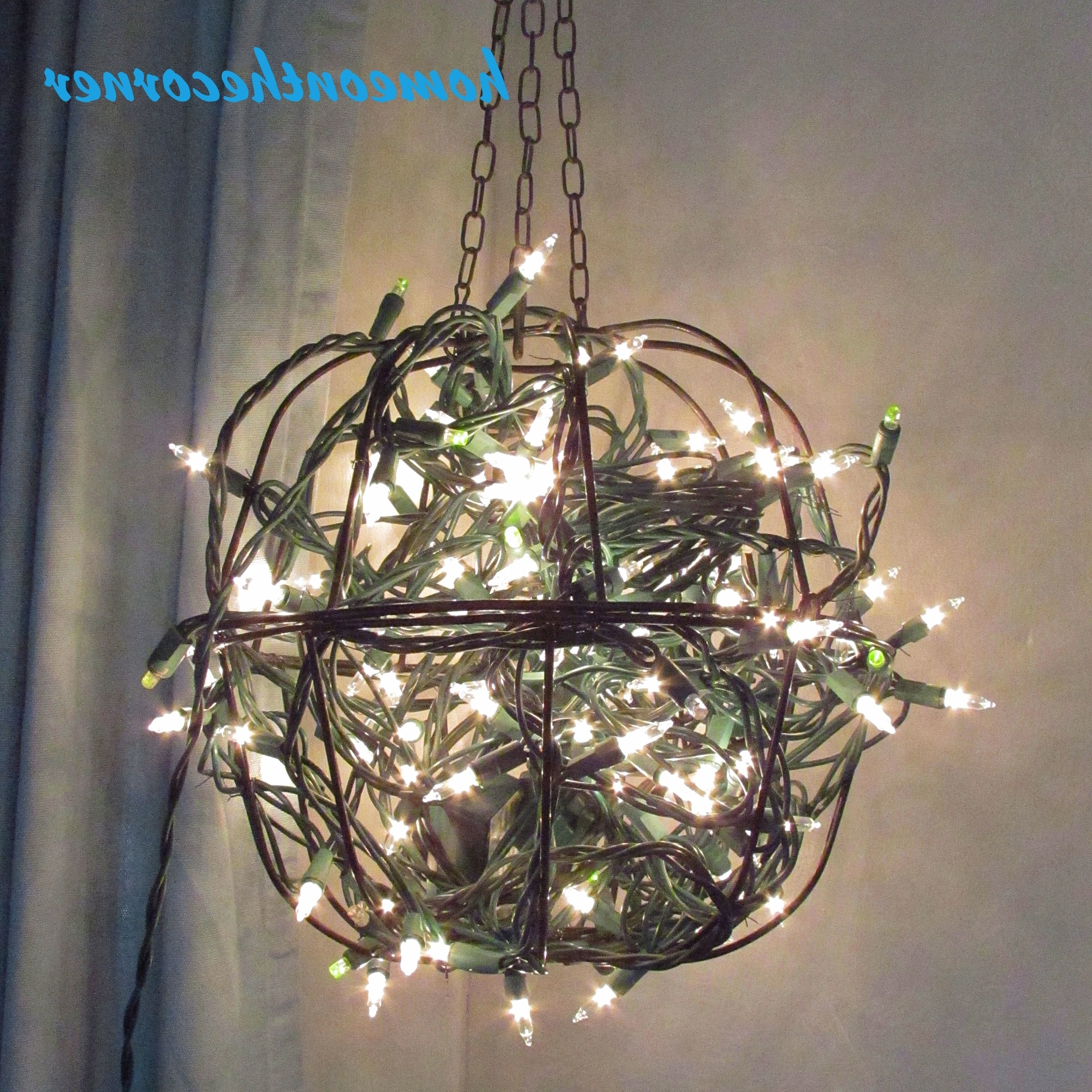 Christmas Hanging Baskets With Lights.View Gallery Of Outdoor Hanging Basket Lights Showing 2 Of