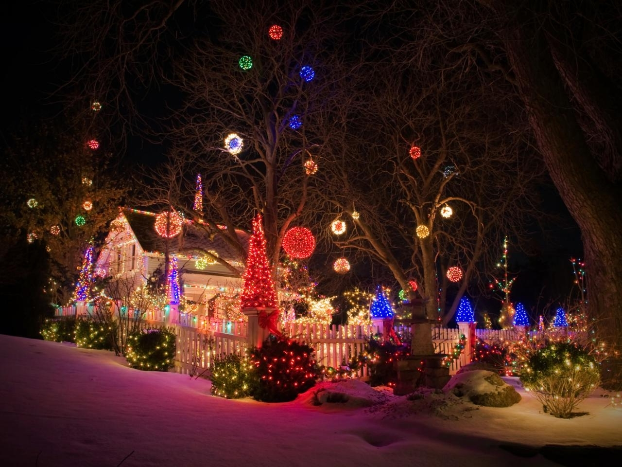 Favorite Hanging Lights On Large Outdoor Tree Regarding How To Hang Christmas Lights (View 4 of 20)
