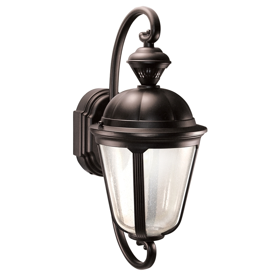 Favorite Heath Zenith Outdoor Wall Lighting With Shop Heath Zenith Corinthian 19 In H Oil Rubbed Bronze Motion (View 2 of 20)