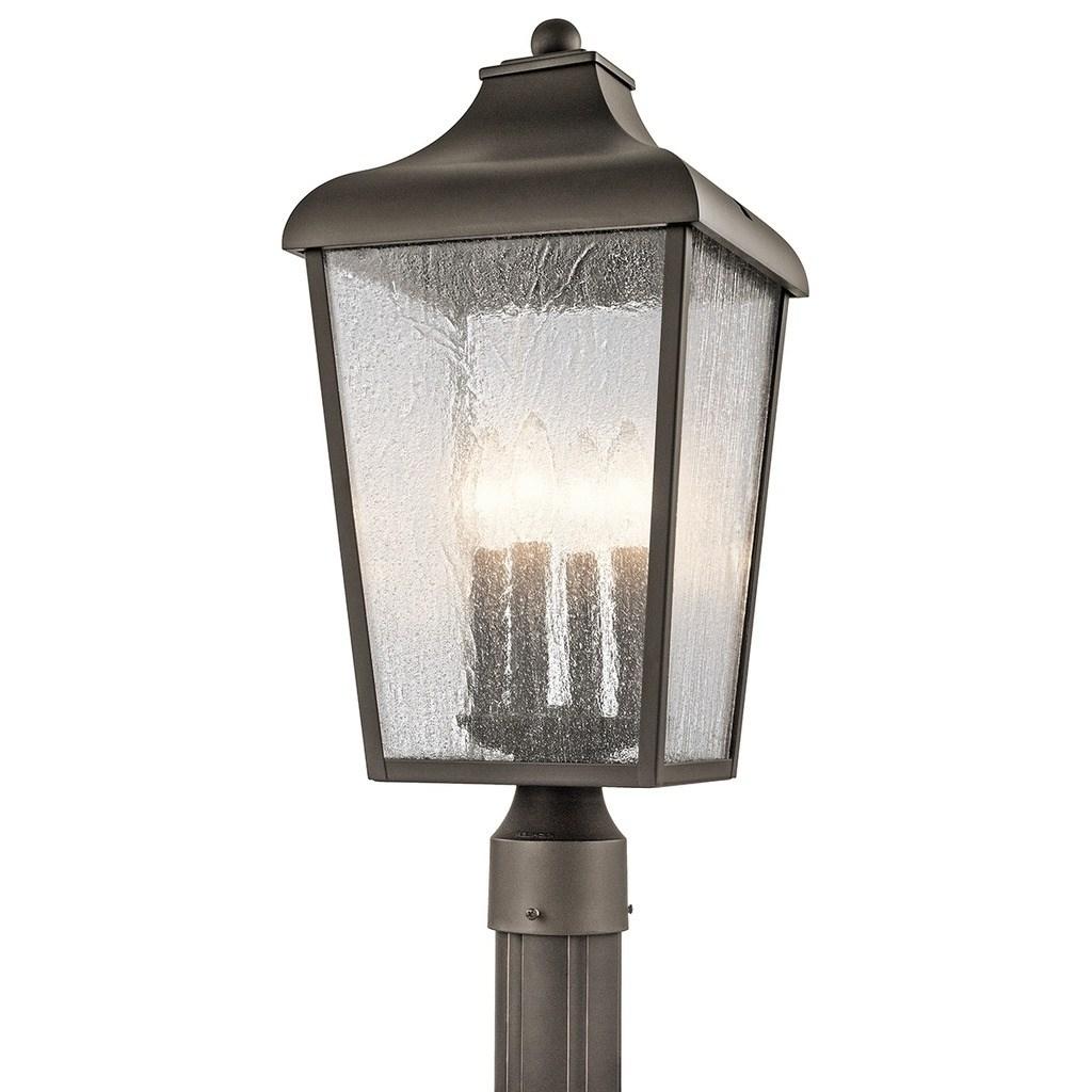 Favorite Kichler Lighting Forestdale Collection 4 Light Olde Bronze Outdoor In Let Outdoor Kichler Lighting (View 6 of 20)