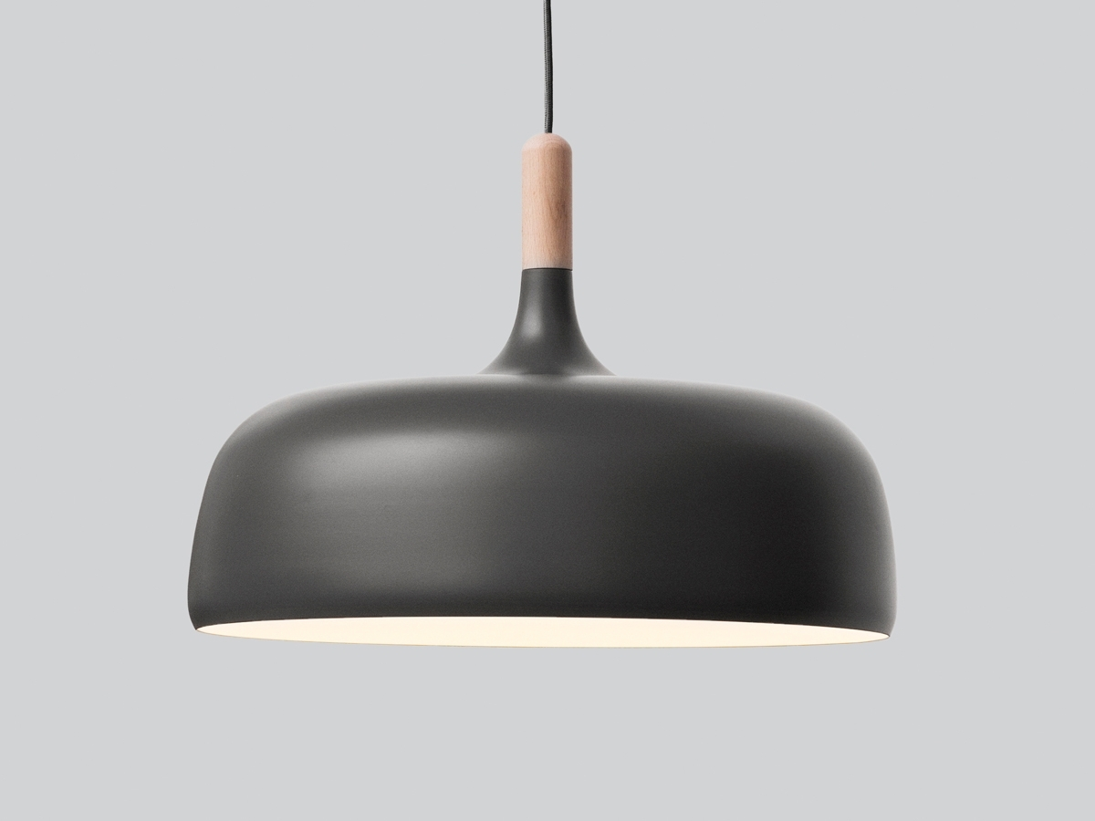 Favorite Large Outdoor Ceiling Lights Pertaining To Northern Acorn Pendant Light – Grey (View 4 of 20)
