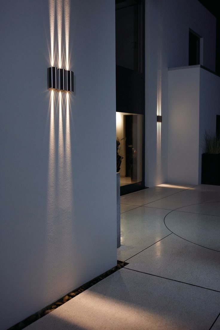 Favorite Led Light Design: Excellent Led Outdoor Wall Light Led Sconces Wall Regarding Outdoor Wall Led Lighting (View 5 of 20)