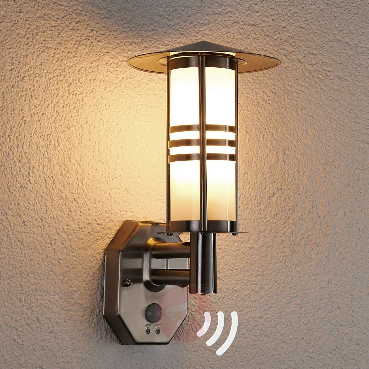 Favorite Led Outdoor Wall Lights Lanea With Motion Sensor Throughout Furniture : Wall Lights Outside Motion Sensor Lighting Product (View 19 of 20)