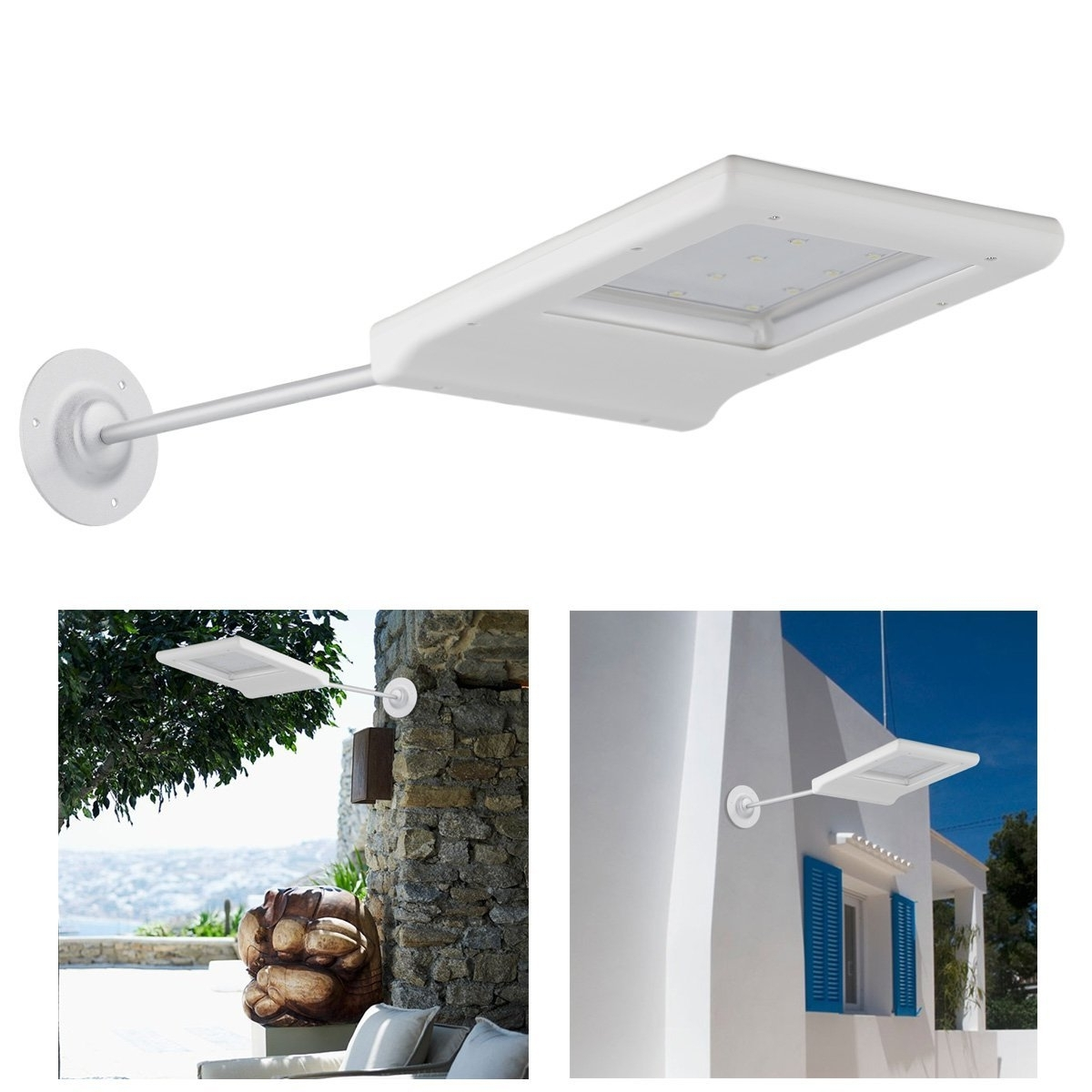 Favorite Light : Nice Collection Solar Powered Outdoor Wall Mounted Lights Regarding Outdoor Solar Ceiling Lights (Gallery 20 of 20)