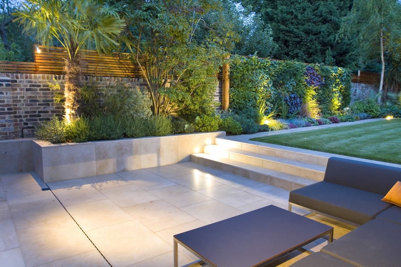 Favorite Modern Garden Landscape Design With Modern Garden Steps Lighting Within Modern Garden Landscape Lighting (View 4 of 20)