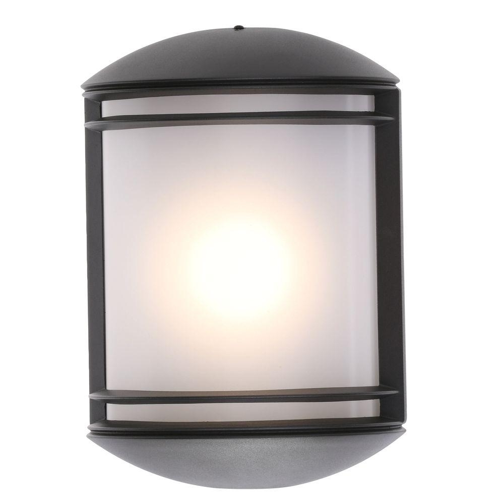 Favorite Modern Outdoor Light Fixtures At Home Depot For Lithonia Lighting Bronze Outdoor Integrated Led Wall Mount Sconce (View 6 of 20)