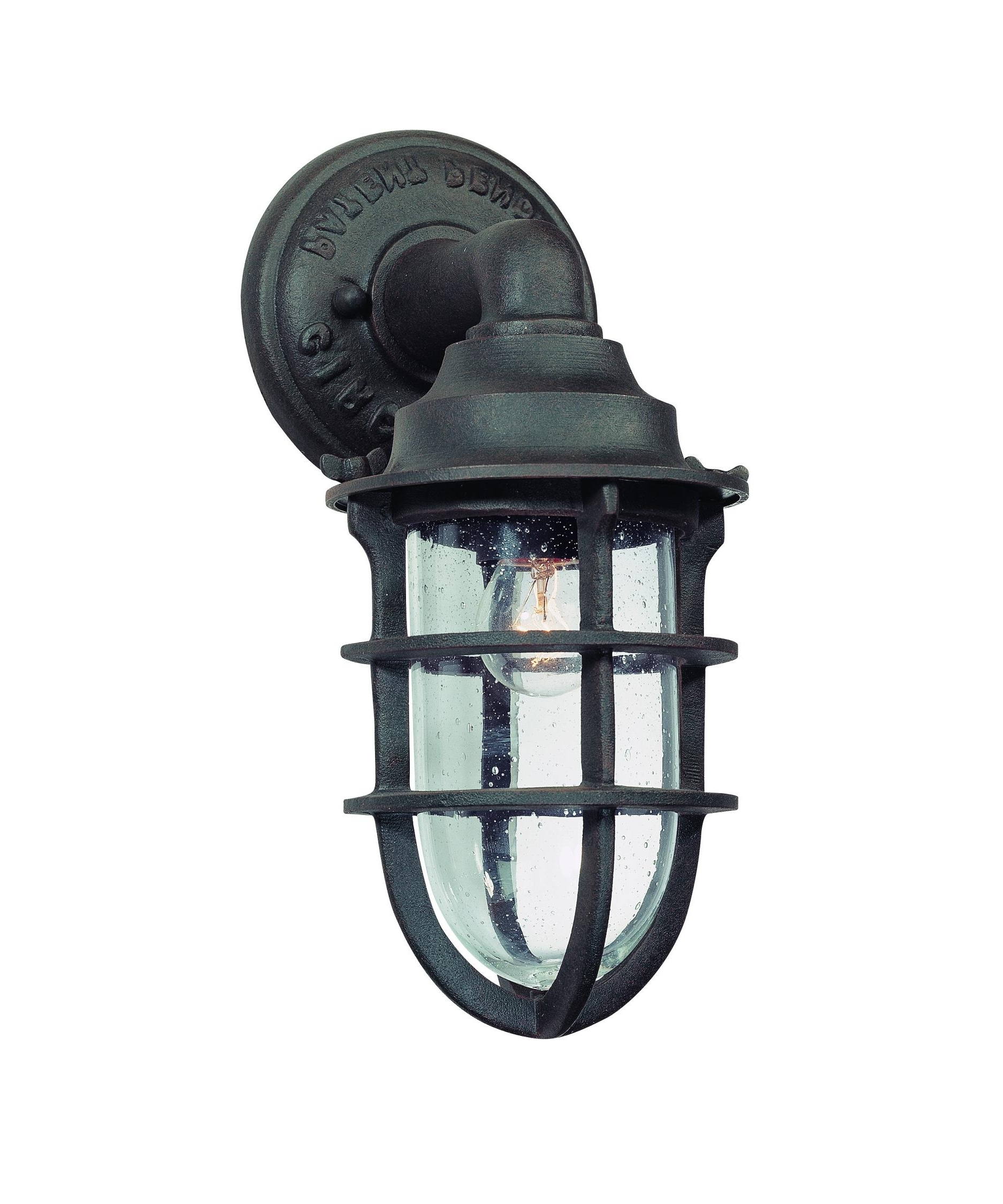Favorite Outdoor Ceiling Nautical Lights Within Troy Lighting B1865 Wilmington 6 Inch Wide 1 Light Outdoor Wall (View 6 of 20)