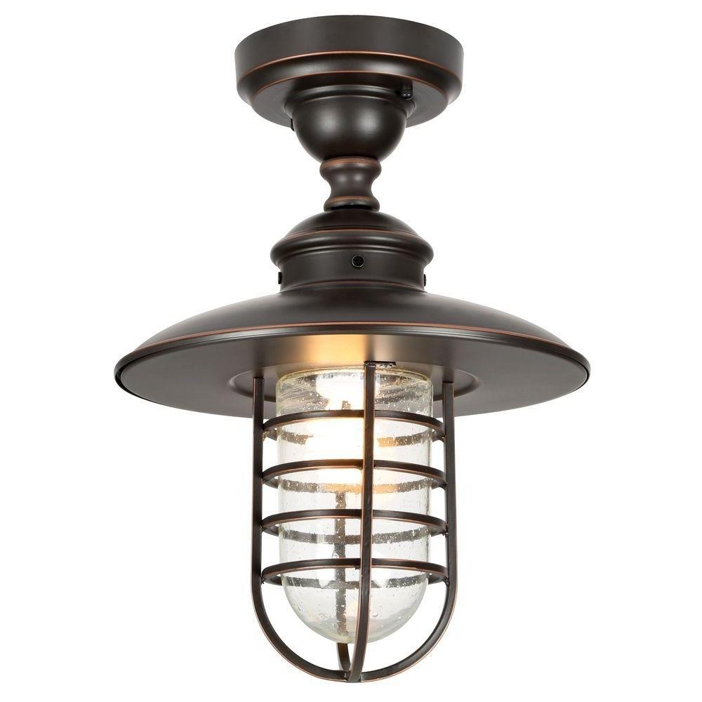 Favorite Outdoor Hanging Lights Regarding Hampton Bay Dual Purpose 1 Light Outdoor Hanging Oil Rubbed Bronze (View 6 of 20)