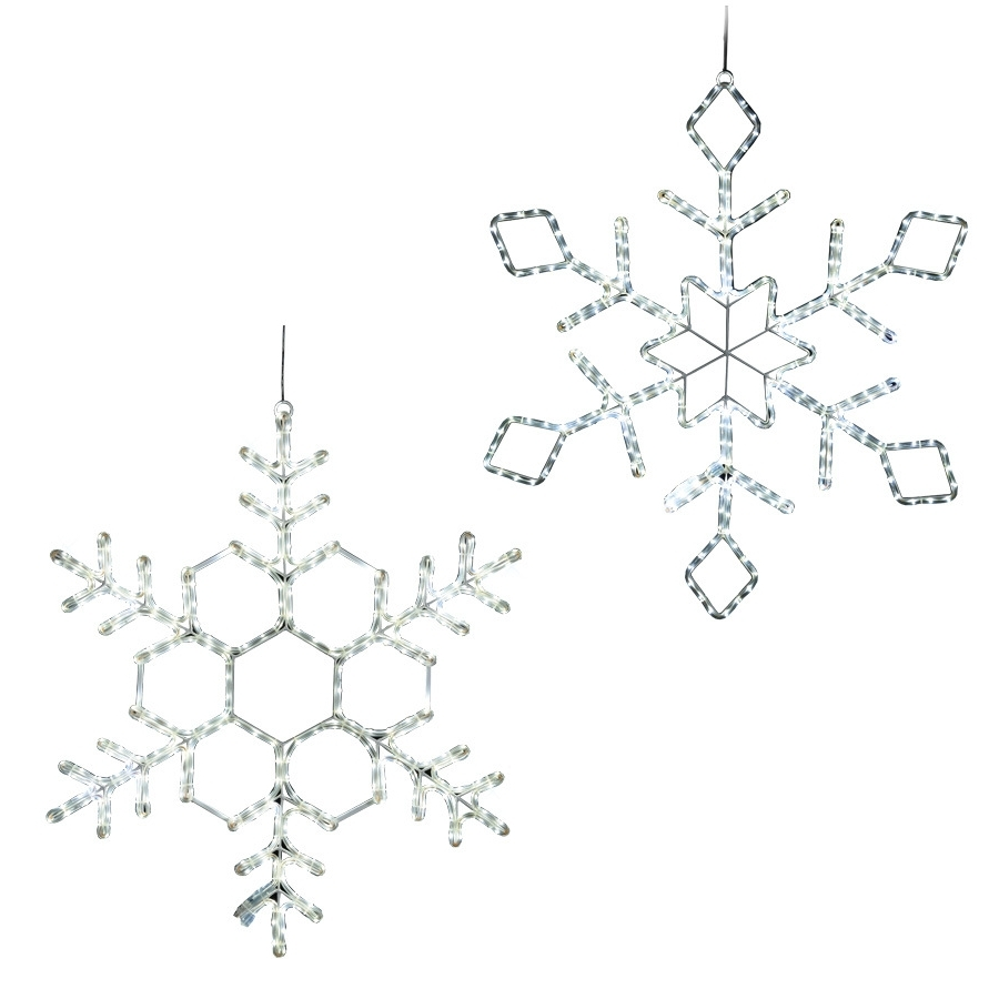 Favorite Outdoor Hanging Snowflake Lights For Shop Ge  (View 14 of 20)