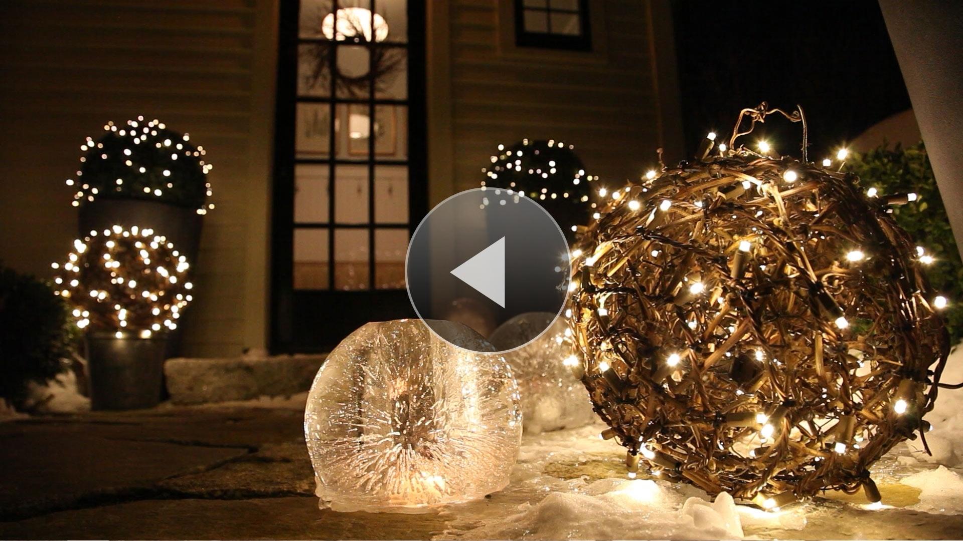Favorite Outdoor Hanging Sphere Lights In Diy : Outdoor Hanging Lit Spheres Balsam Hill Garden Sphere Lights (View 9 of 20)