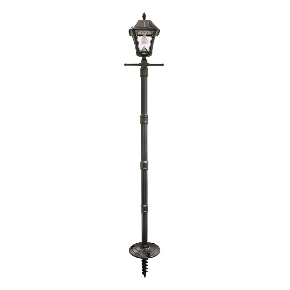 Favorite Outdoor Led Post Lights Fixtures For Solar – Post Lighting – Outdoor Lighting – The Home Depot (View 7 of 20)