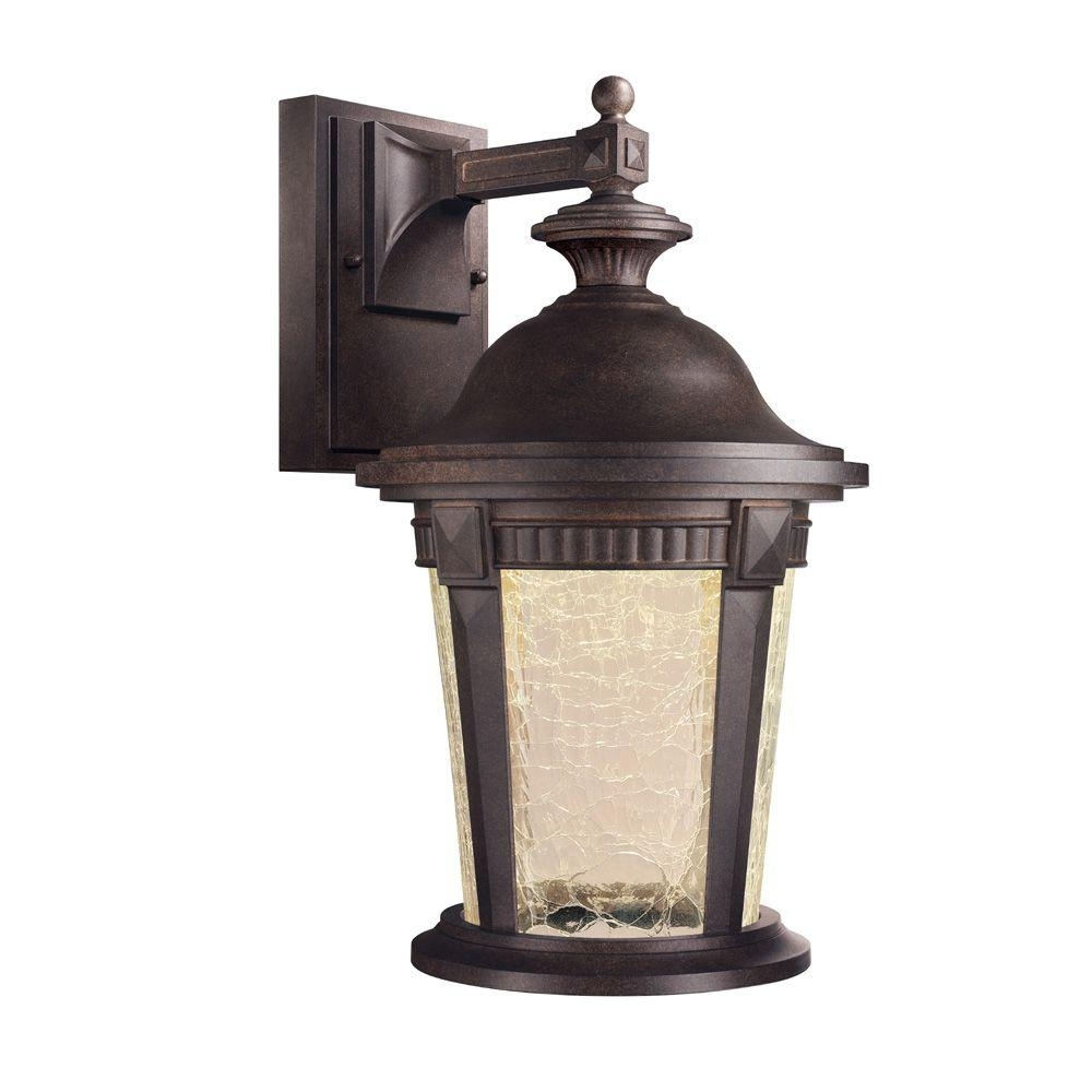 Favorite Outdoor Lighting Fixtures At Wayfair Pertaining To Hampton Bay Basilica Collection Mystic Bronze Outdoor Led Wall (View 4 of 20)