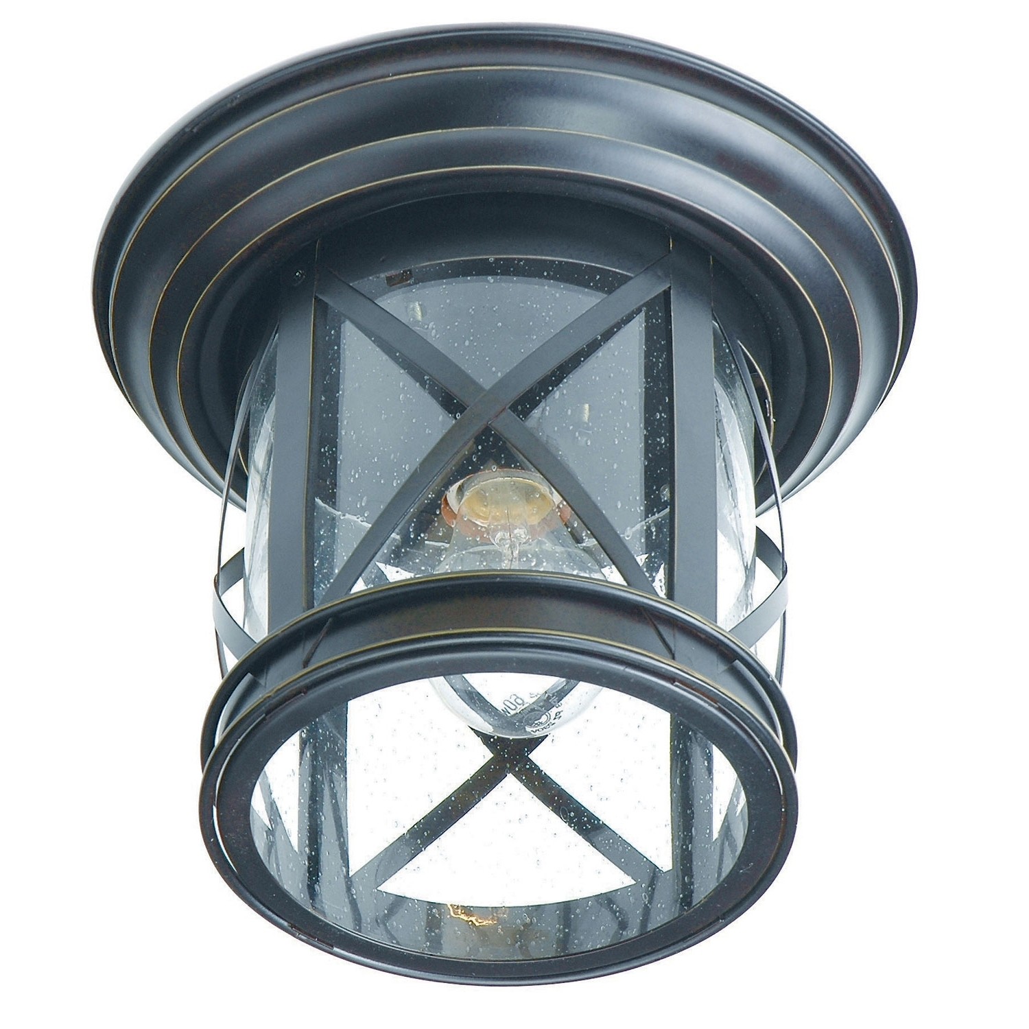 Favorite Outdoor Semi Flush Ceiling Lights Intended For Trans Globe Lighting New England Coastal Rubbed Oil Bronze Outdoor (View 17 of 20)