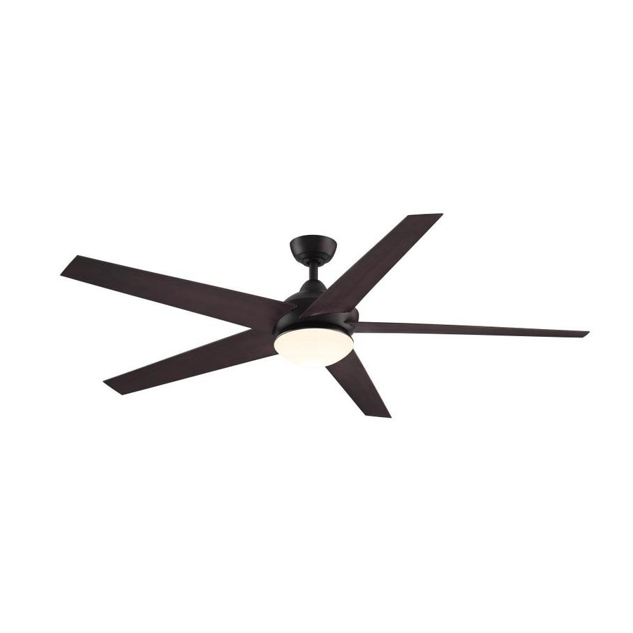 Favorite Shop Fanimation Studio Collection Covert 64 In Aged Bronze Indoor Regarding Outdoor Ceiling Fans With Lights At Lowes (View 13 of 20)