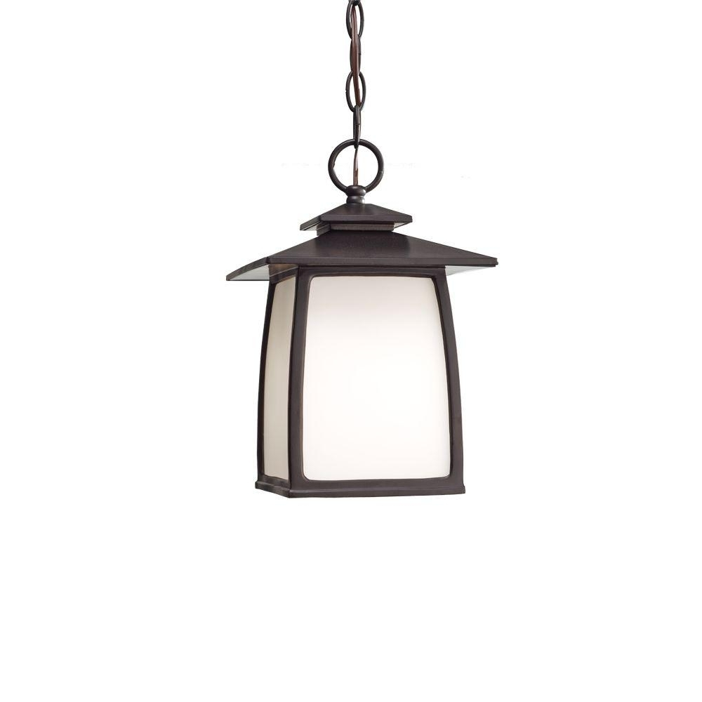 Feiss Wright House 1 Light Oil Rubbed Bronze Outdoor Hanging Lantern Inside Most Up To Date Outdoor Hanging Oil Lanterns (View 13 of 20)