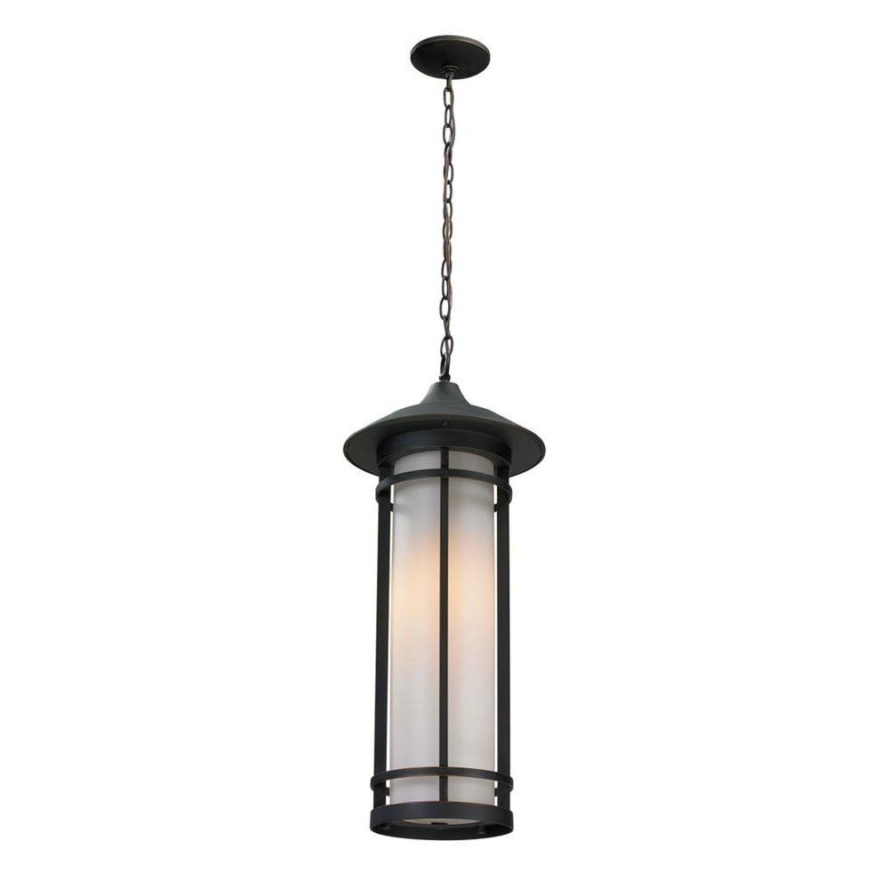 Filament Design Grove 1 Light Oil Rubbed Bronze Outdoor Pendant Cli Inside Most Recent Oil Rubbed Bronze Outdoor Hanging Lights (View 15 of 20)